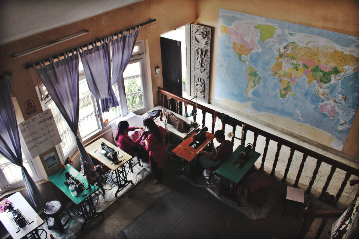 Fair Trade in Nepal: view of the Seven Women facilities