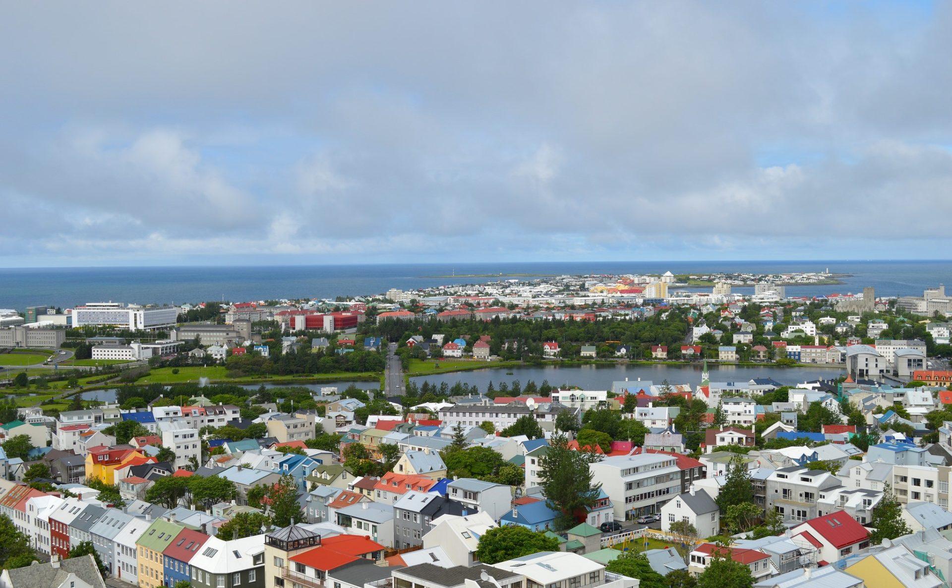 Reykjavik , Iceland. View from the top of Hallgrímskirkja. Photo by Philippa via Flickr CC