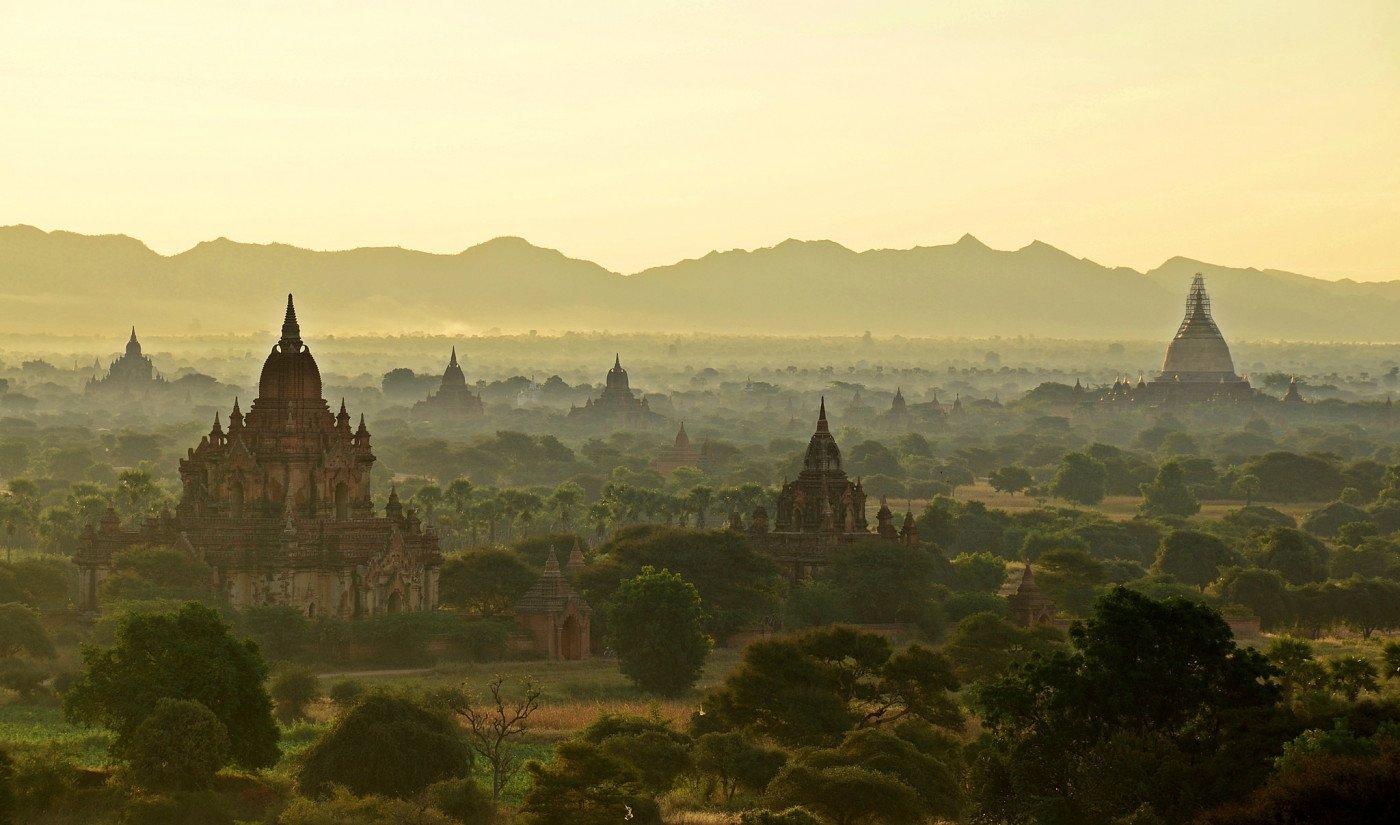 Sunrise in Bagan, Myanmar. Photo via Flickr Creative Commons by Jennifer Stahn