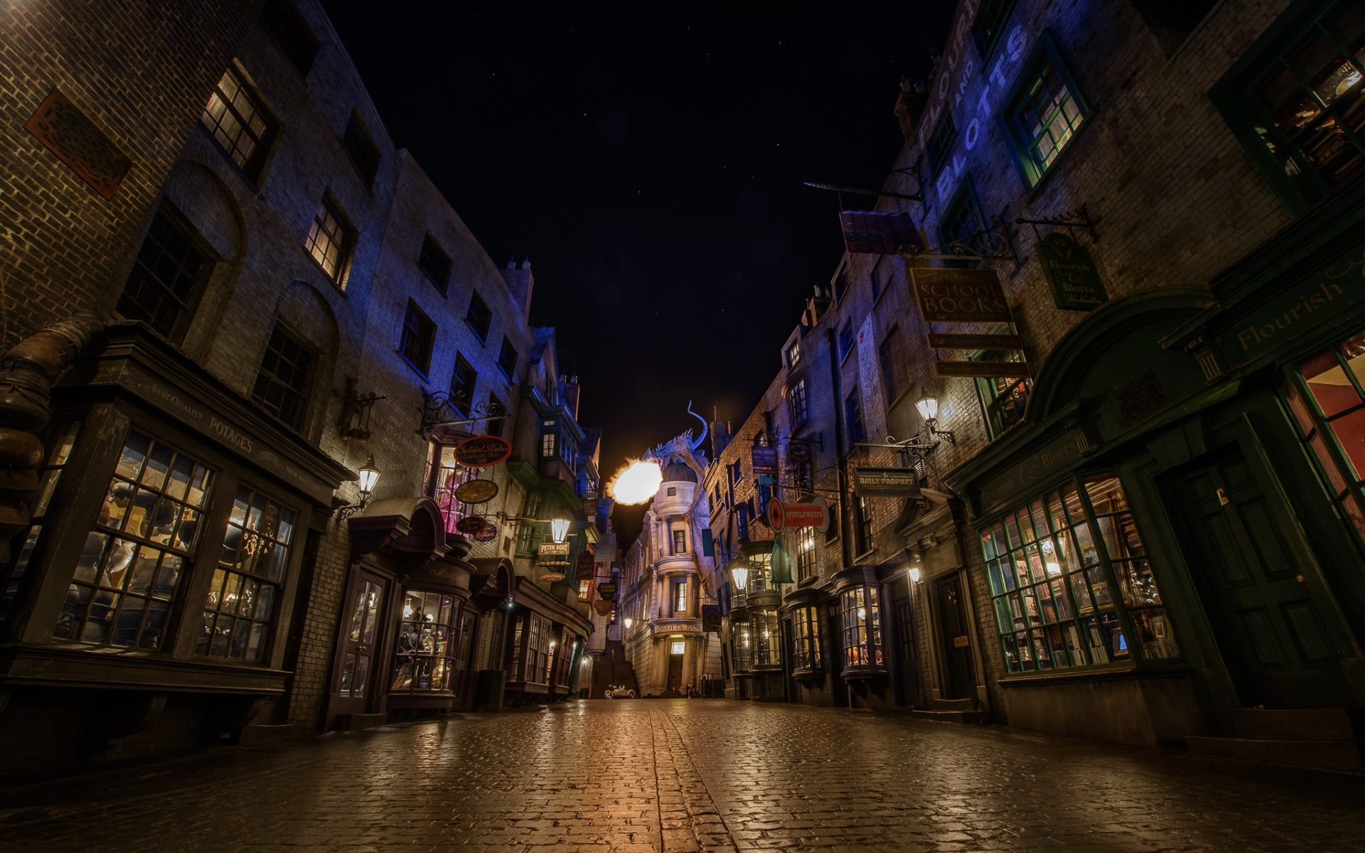 What to do in Orlando: Fire Alley at the Harry Potter World. Photo by Brett Kiger via Flickr CC