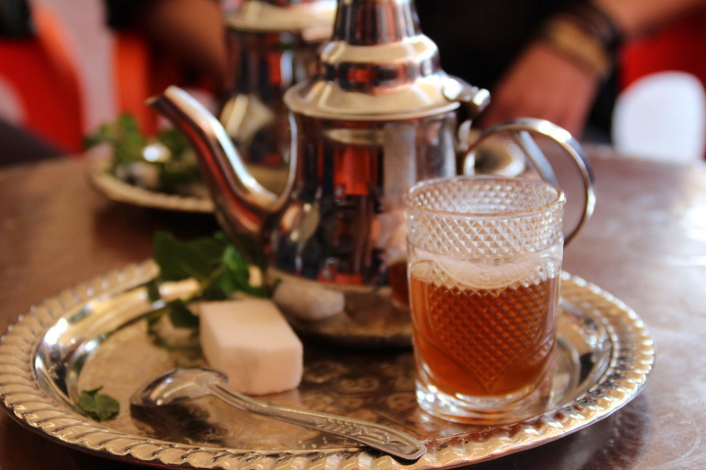 Moroccan mint tea. YUM! Photo via Flickr Creative Commons by Thibaut Démare