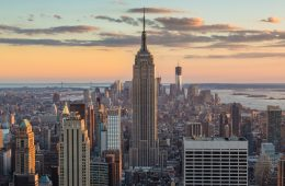 Eco-Friendly Hotels New York city: cityscape of New York city with Empire State Building
