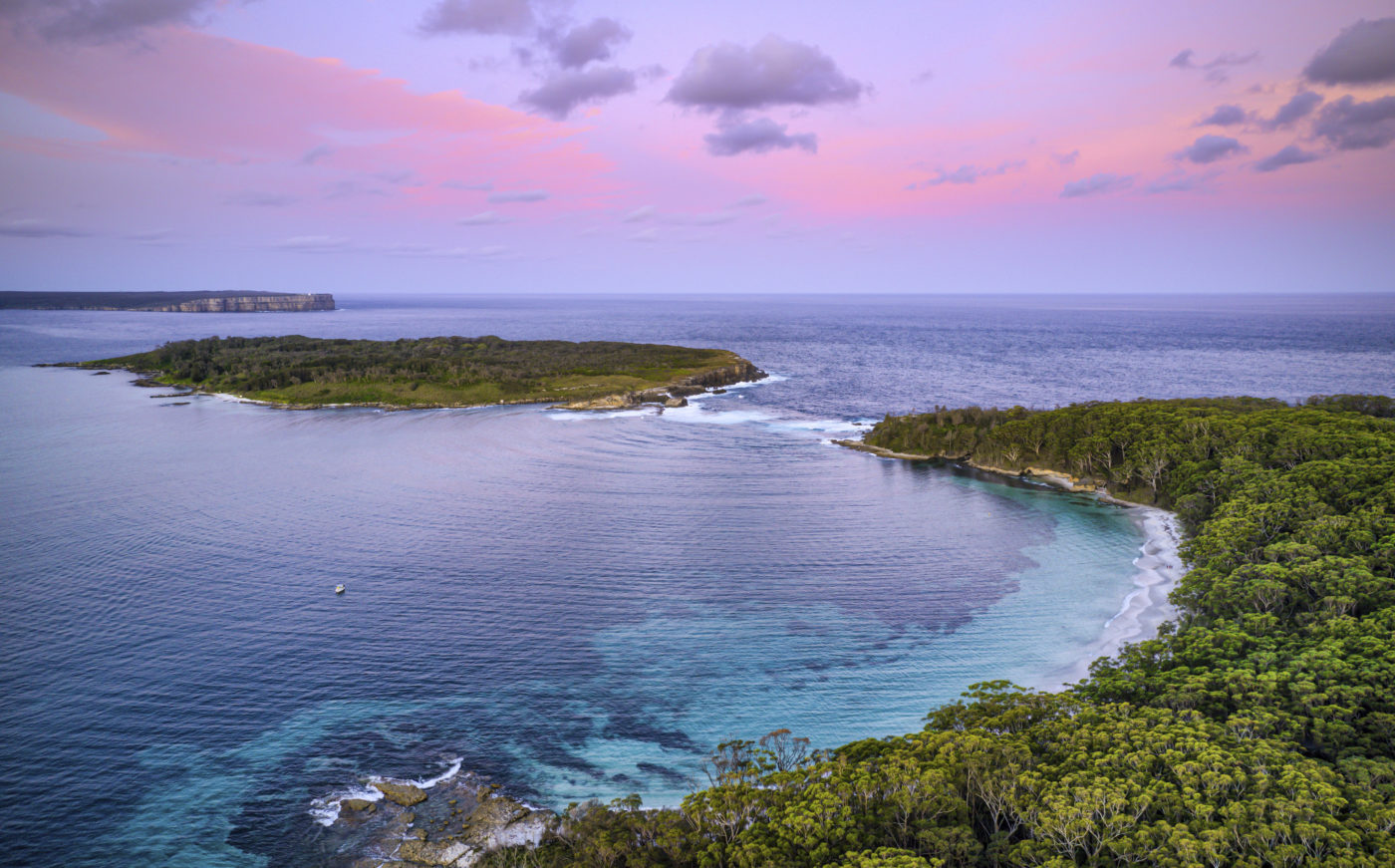 Sunset over Bowen Island and Murrays Beach in Jervis Bay. Photo by Filippo Rivetti