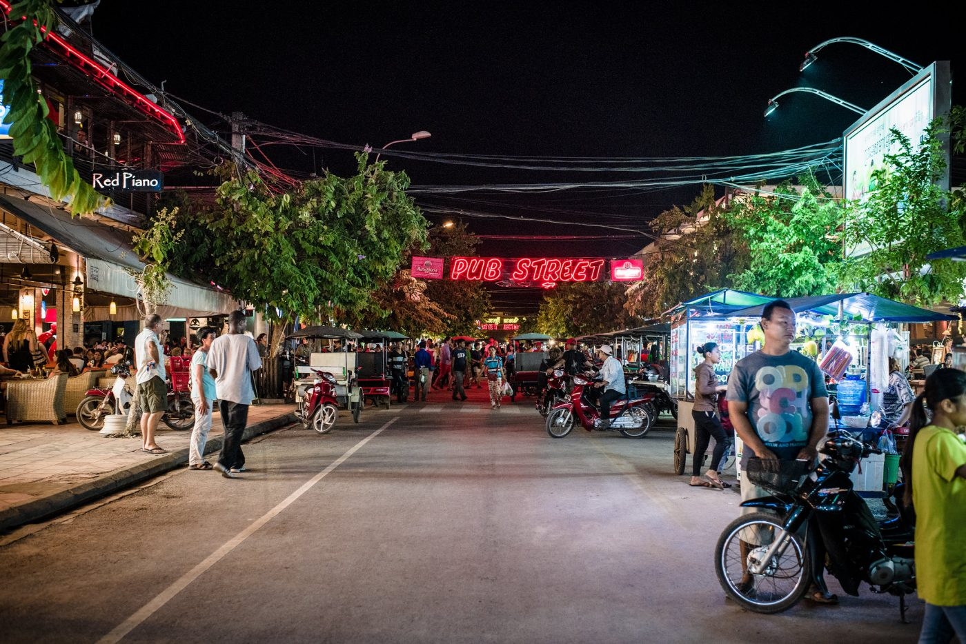 Pub Street, Siem Reap, Cambodia. Photo by Alan Wat via Flickr CC