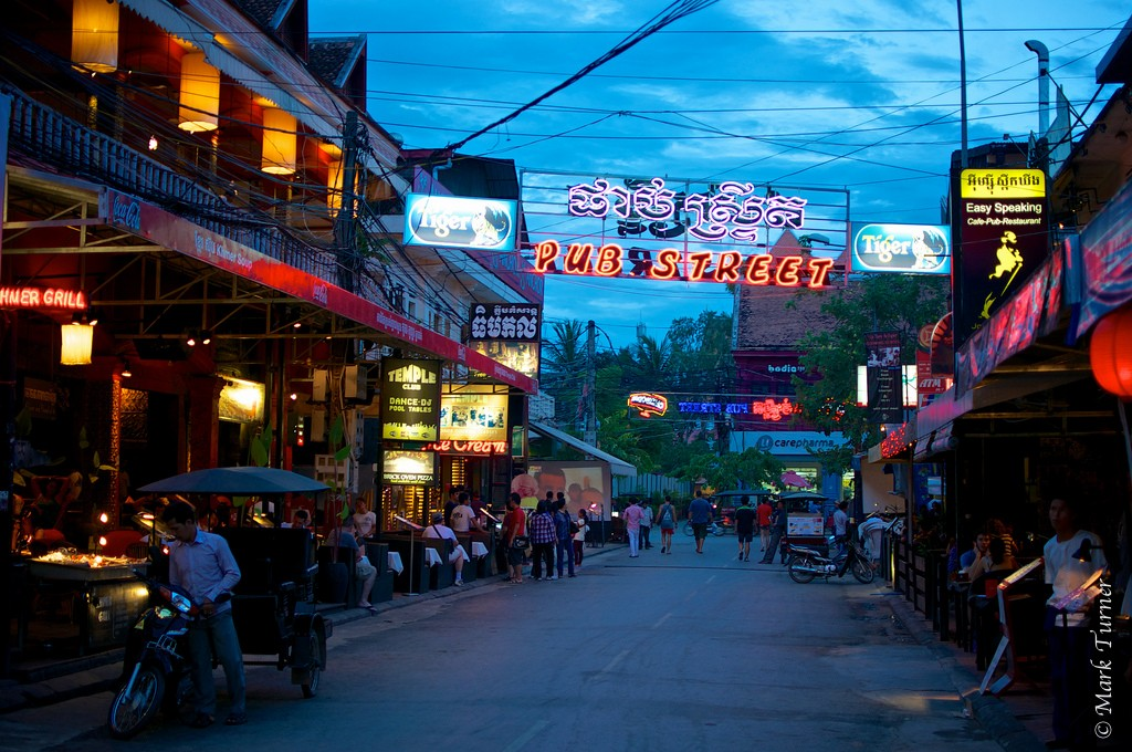 Pub Street in Siem Riep - what to do in Cambodia