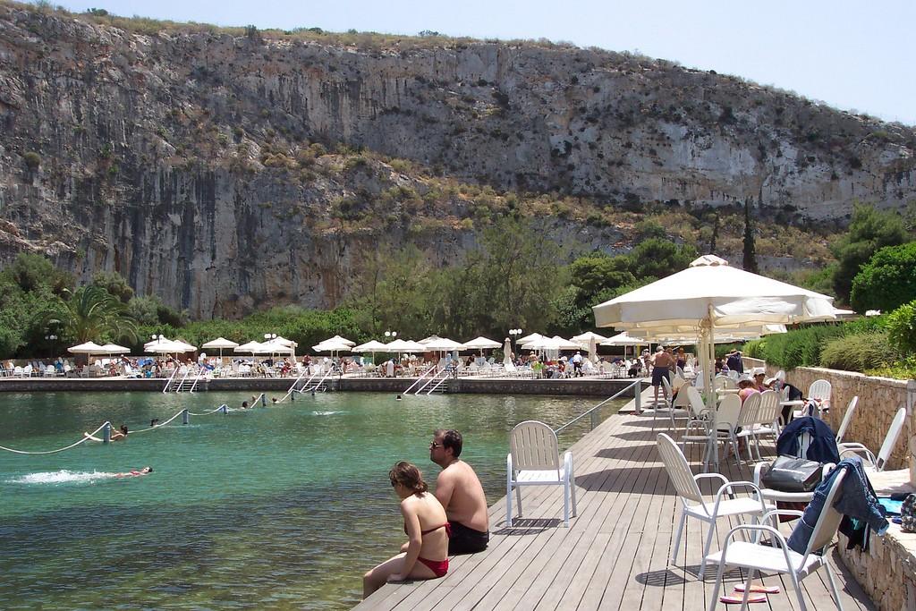 The boardwalk at Lake Vouliagmenis, Greece