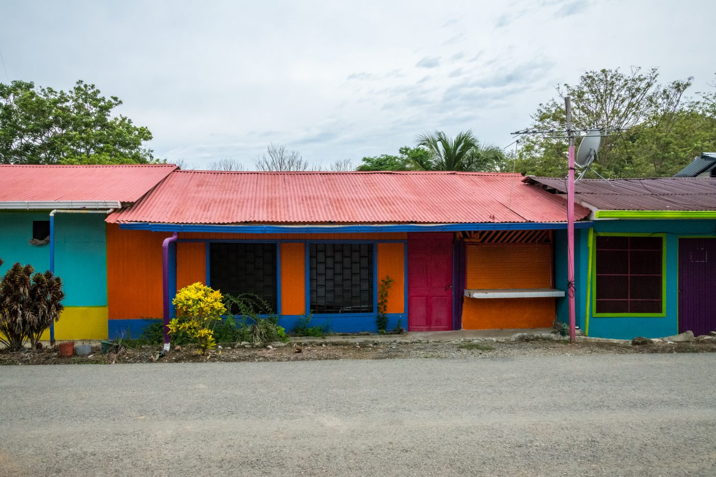 Colourful homes in Uvita. Photo by dconvertini via Flickr CC