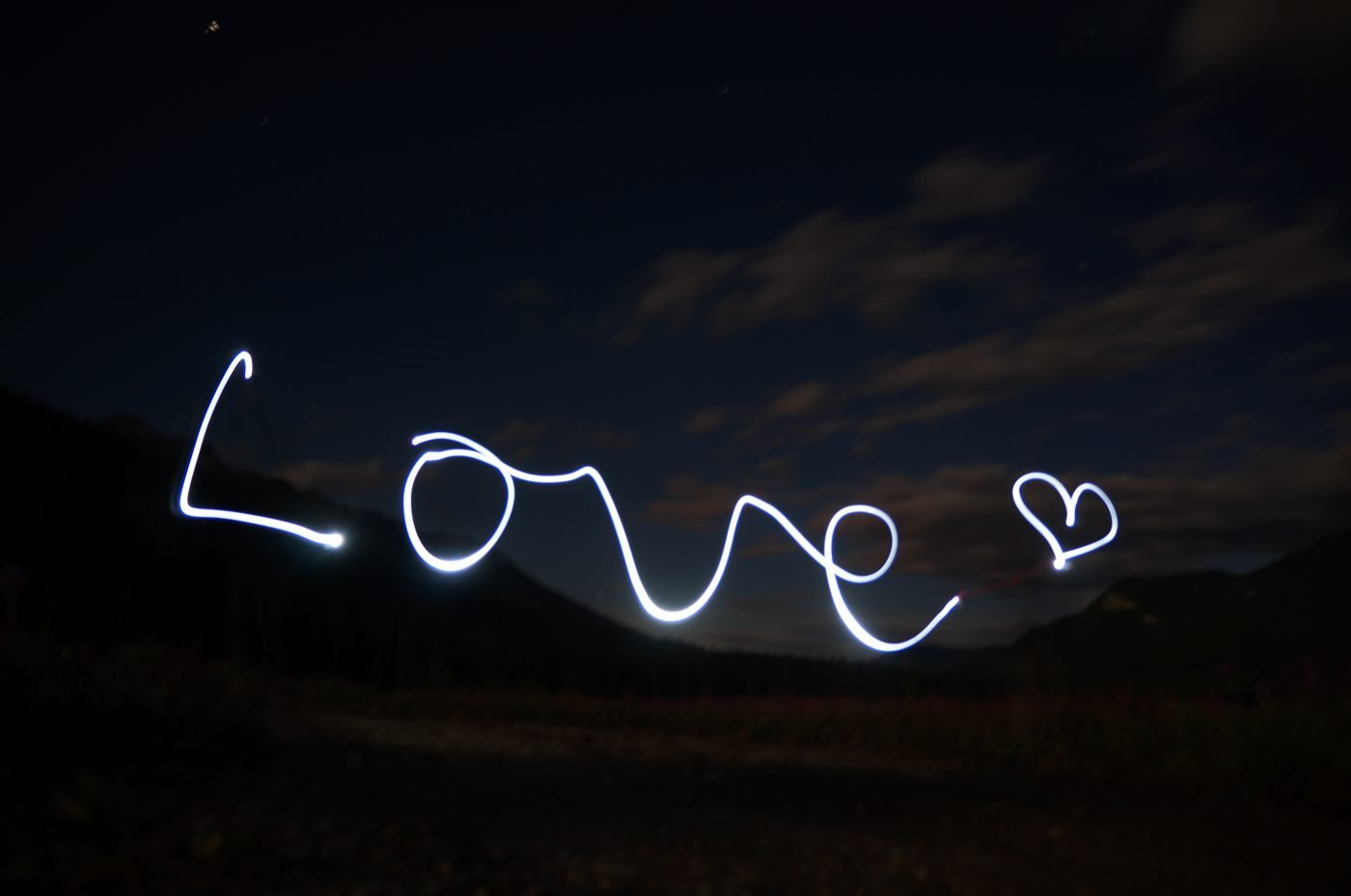 Romantic Getaway: Love written in lights