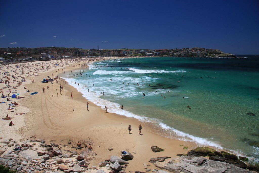 Best Beaches in Australia: Bondi Beach, Sydney.
