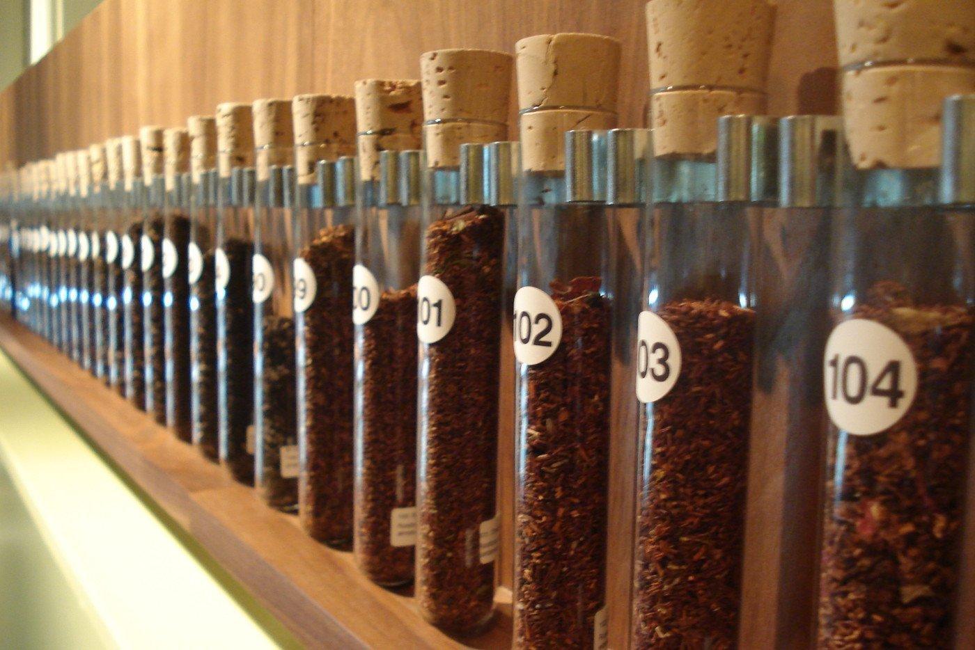 Remedy Tea Test tubes. Photo via Flickr Creative Commons by Bridget Coila