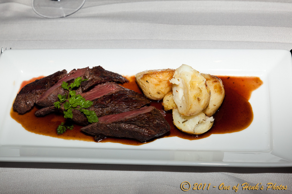 Food to try in Australia: Saltbush marinated kangaroo steak. Photo by Henk Tobbe via Flickr CC