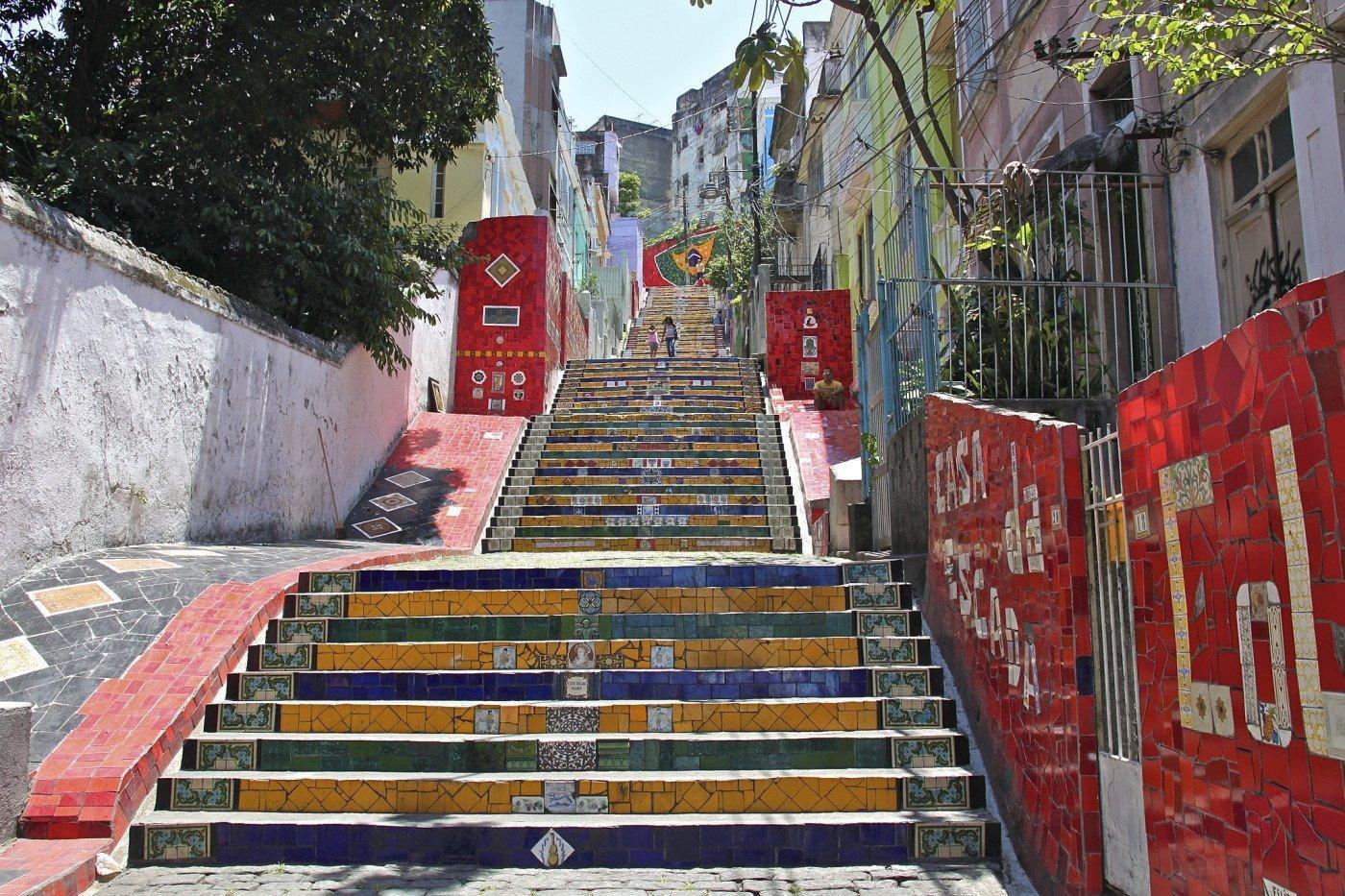 Escadaria Santa Tereza, Rio de Janeiro. Brazil. Photo by alobos Life via Flickr CC