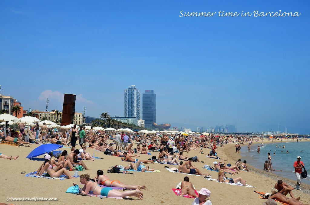 Barcelona Beach in Summer. Photo by Cecil Lee via Flickr CC