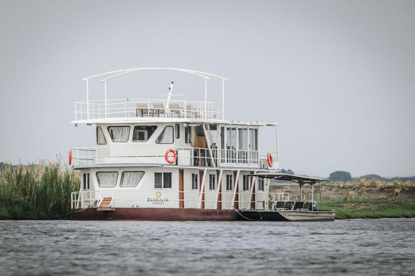 Pangolin Voyager houseboat on Chobe River, chobe national park botswana