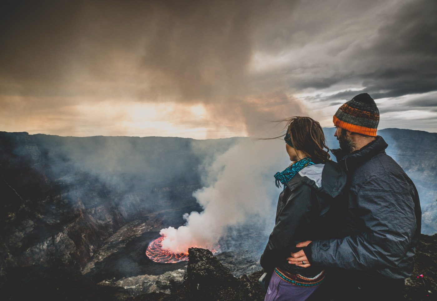 Watching the Nyiragongo Volcanos