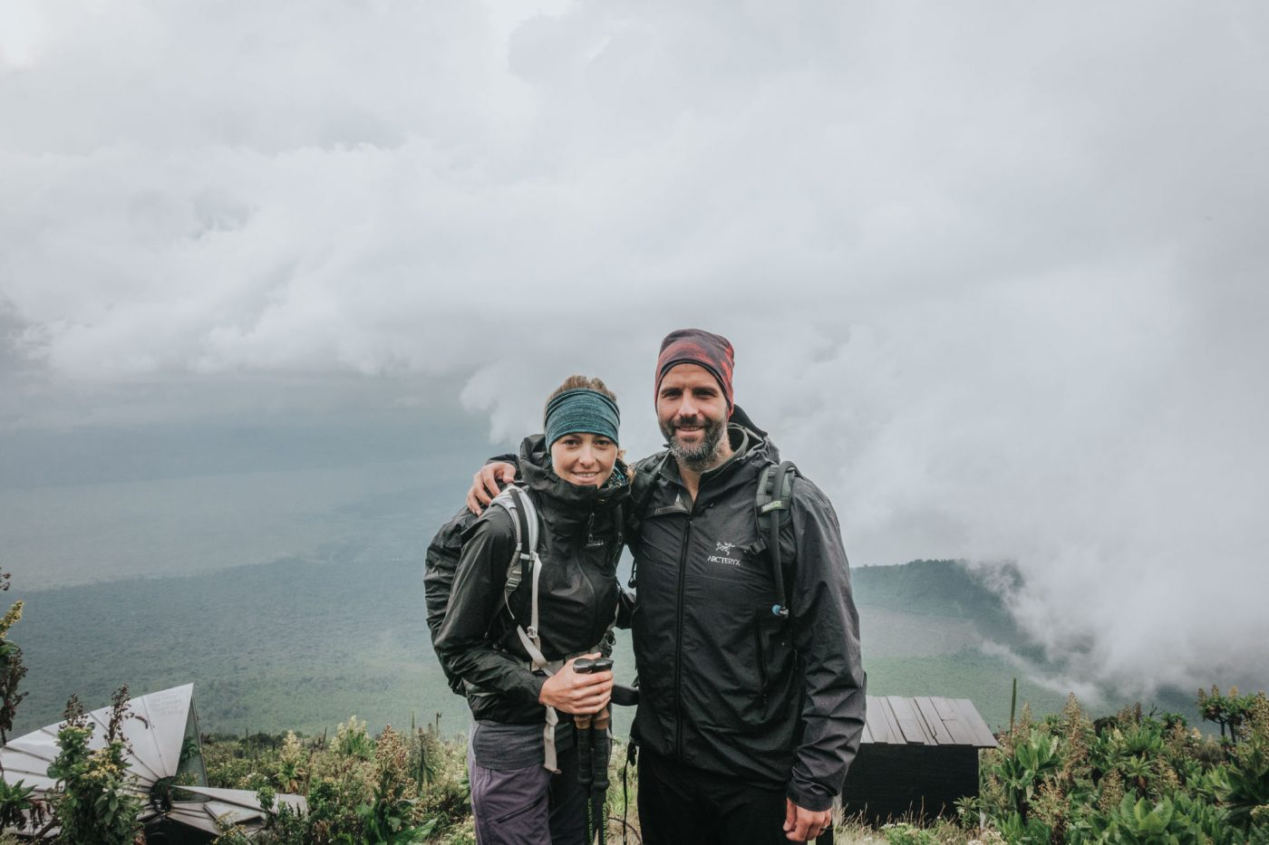 Hiking along the Nyiragongo Voclano Trek