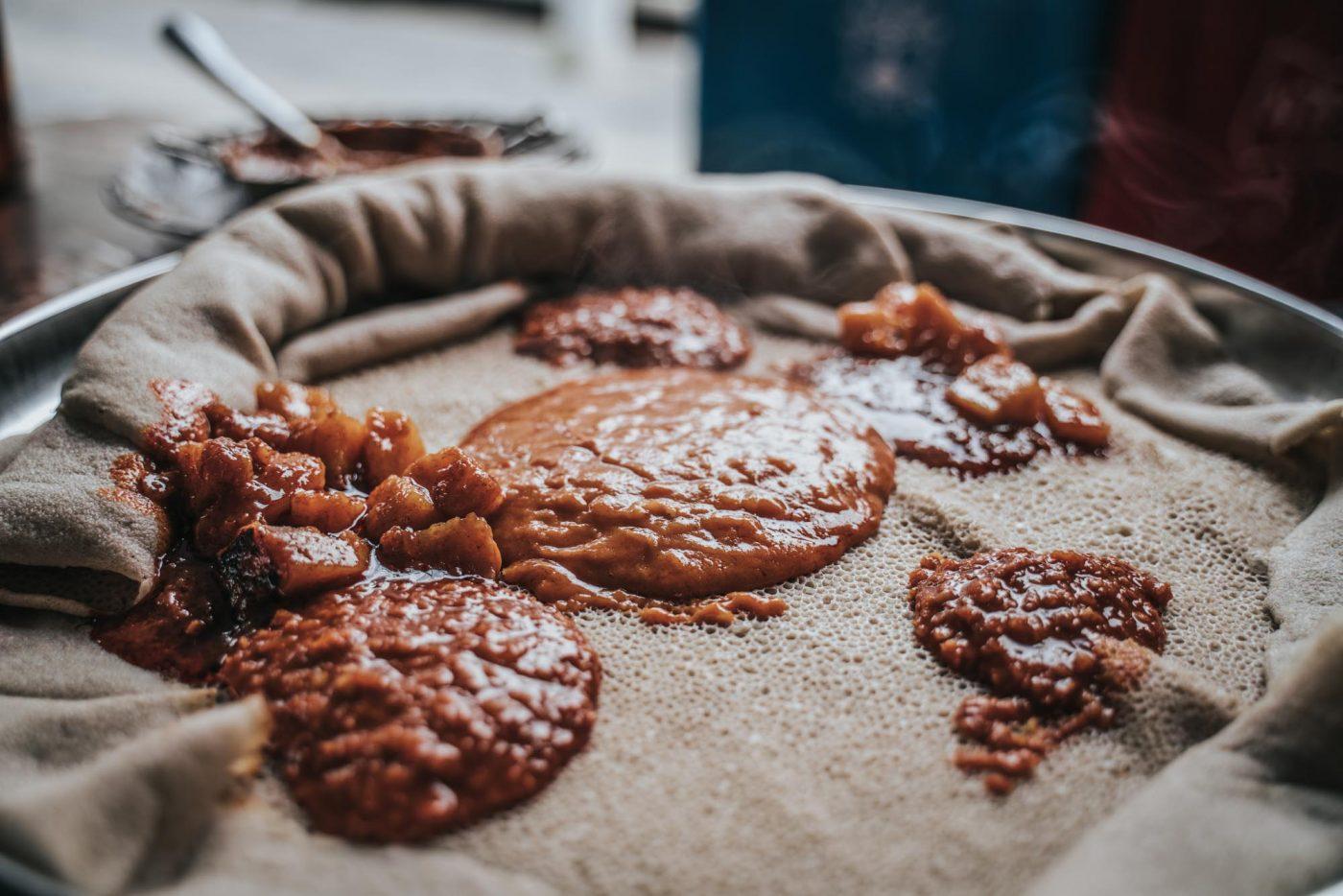 Vegan aka fasting meal in Ethiopia