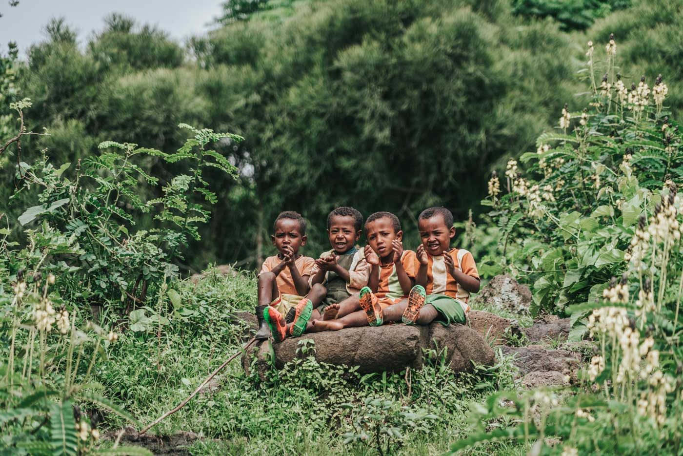 Local kids in Bahir Dar, Ethiopia