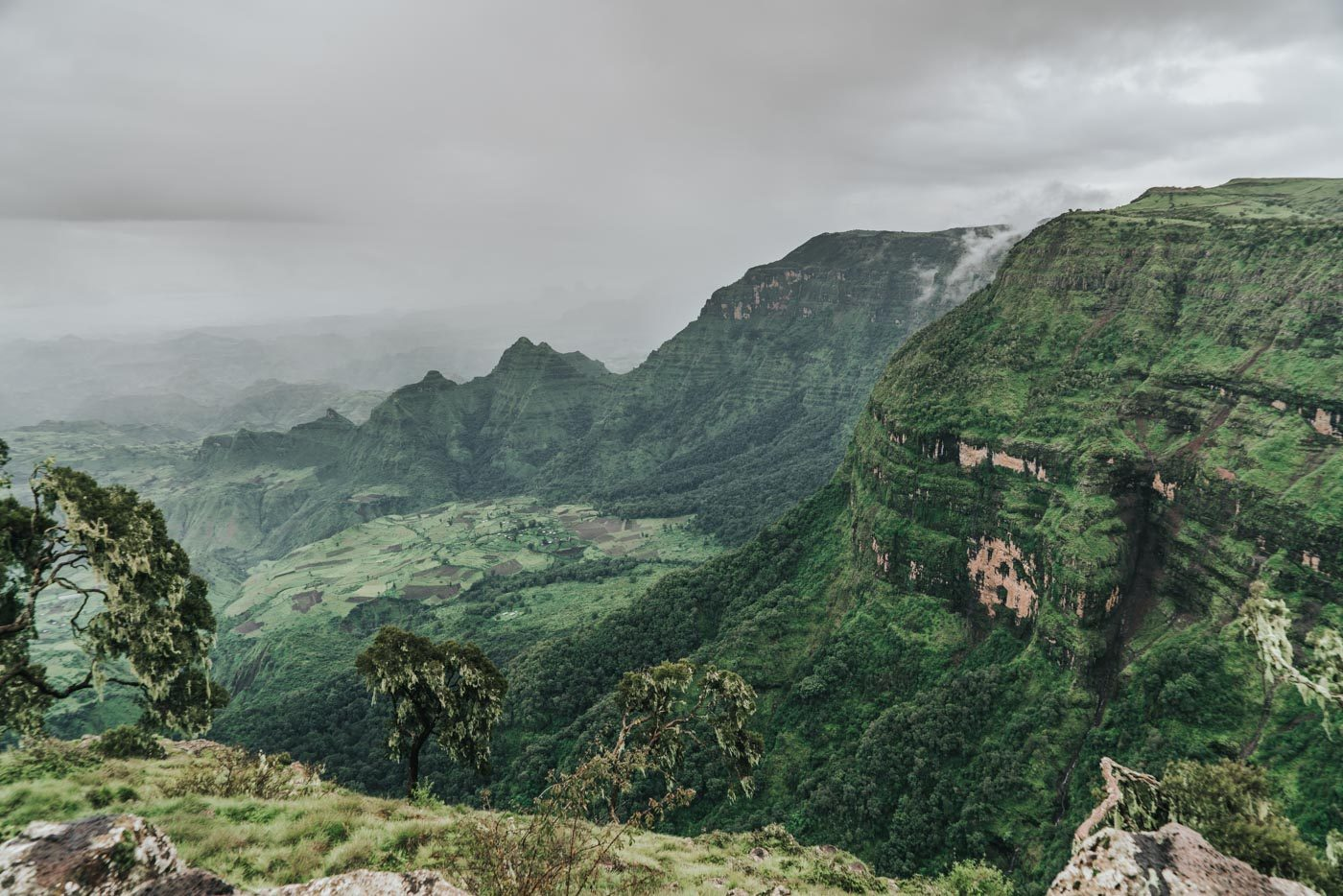 Views of Simien Mountains National Park, Ethiopia