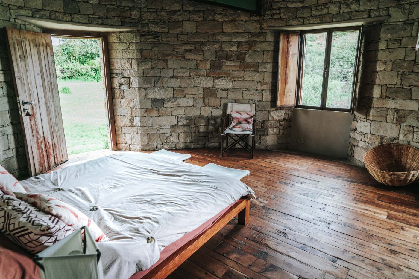 Inside our bungalow at Gheralta Lodge, Tigray Region