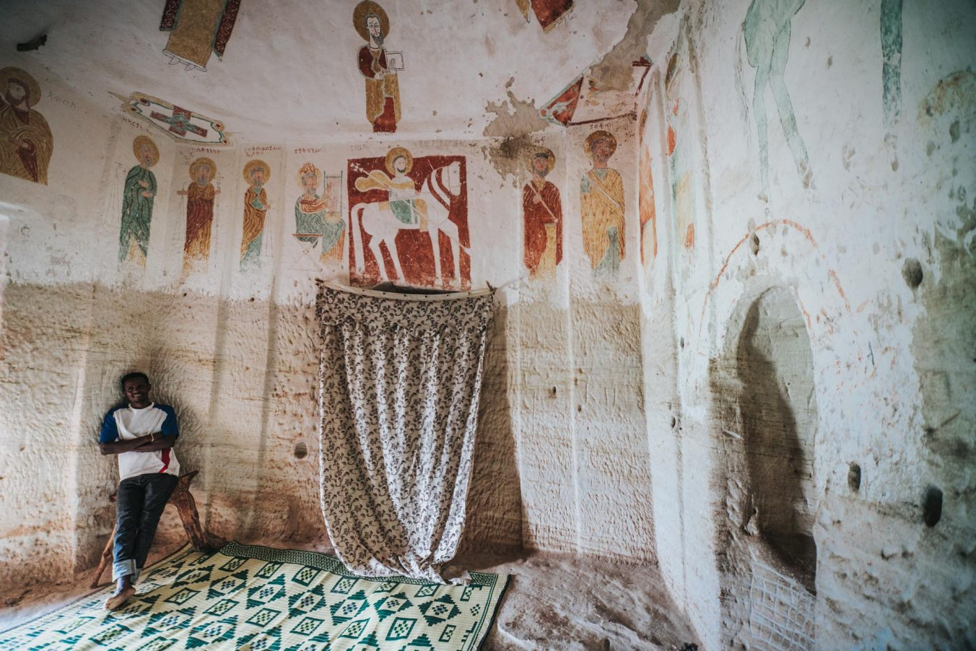 Inside Maryam Kotor church, Gheralta, Tigray Region