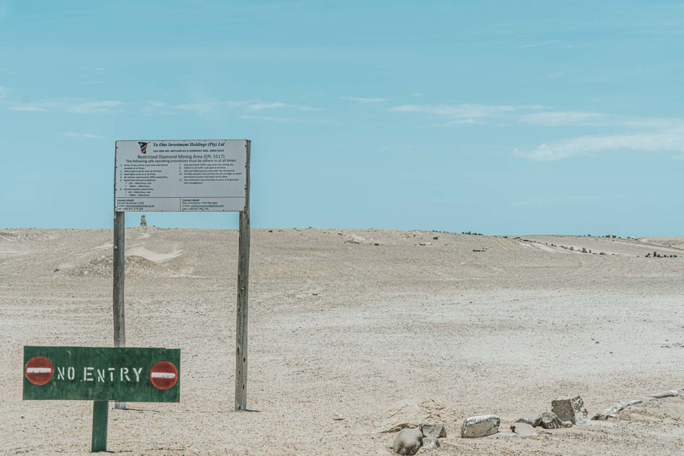 Old mining sites along the Skeleton Coast road