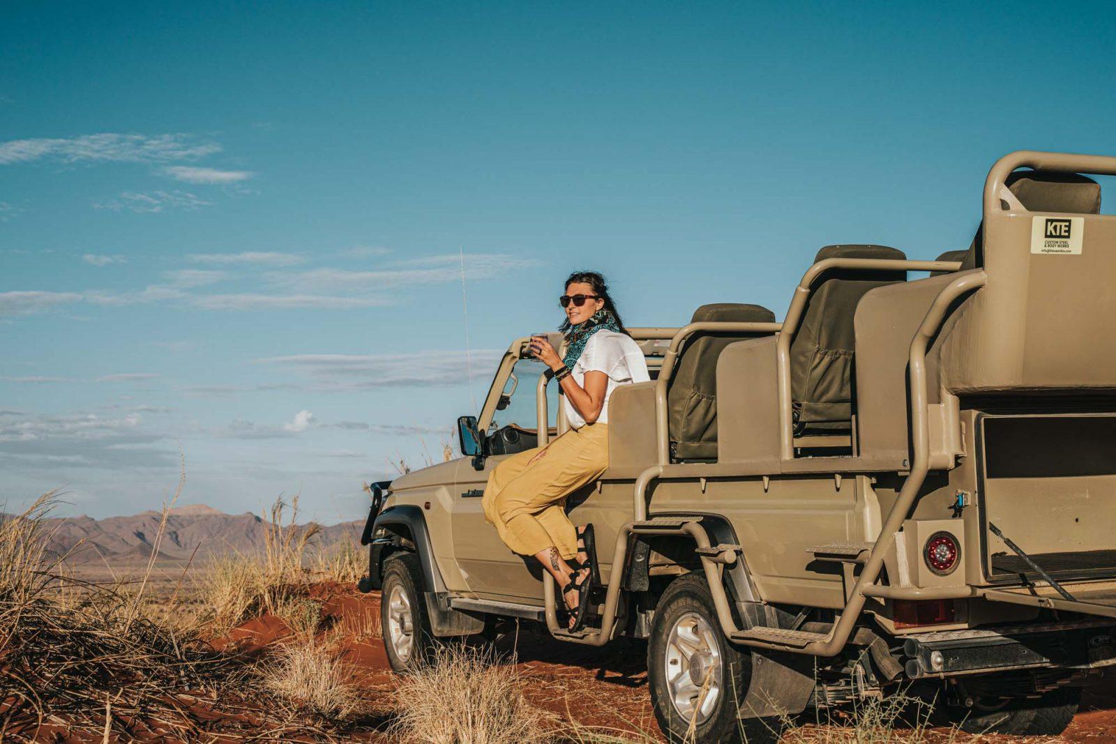 Sundowner at Desert Grace Lodge, Sossusvlei accommodation in Namib Desert
