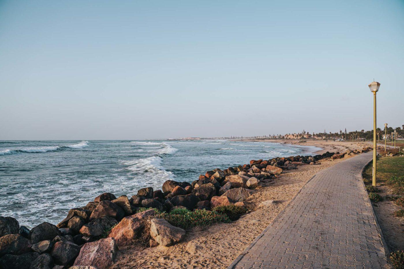 Coastline in Swakopmund, Namibia