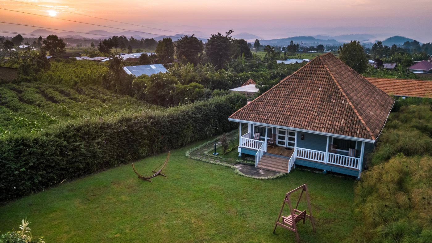 gorilla trekking Rwanda accommodation at Five Volcanoes Hotel
