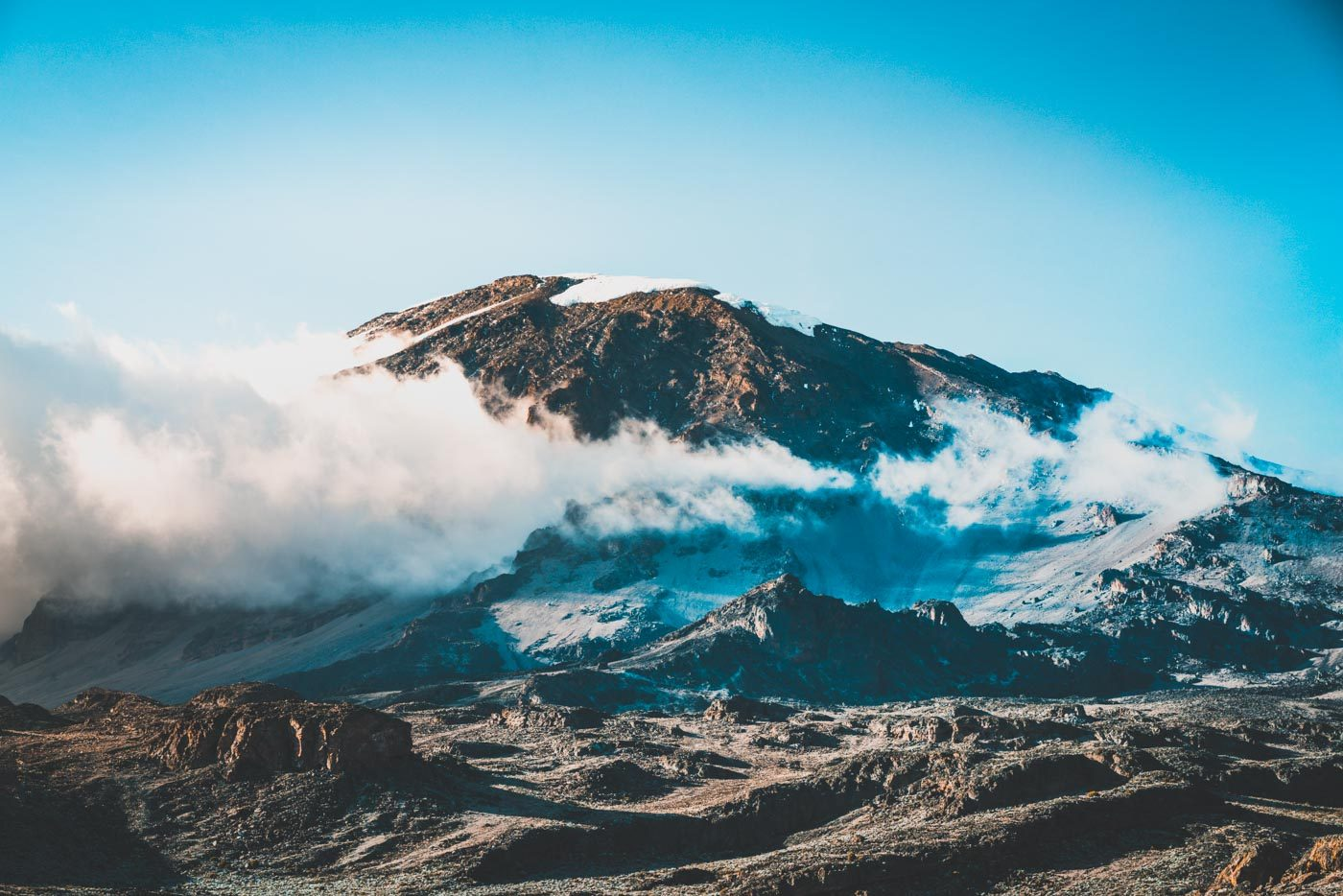 Mt Kilimanjaro, the highest peak in Africa and a pride of Tanzania