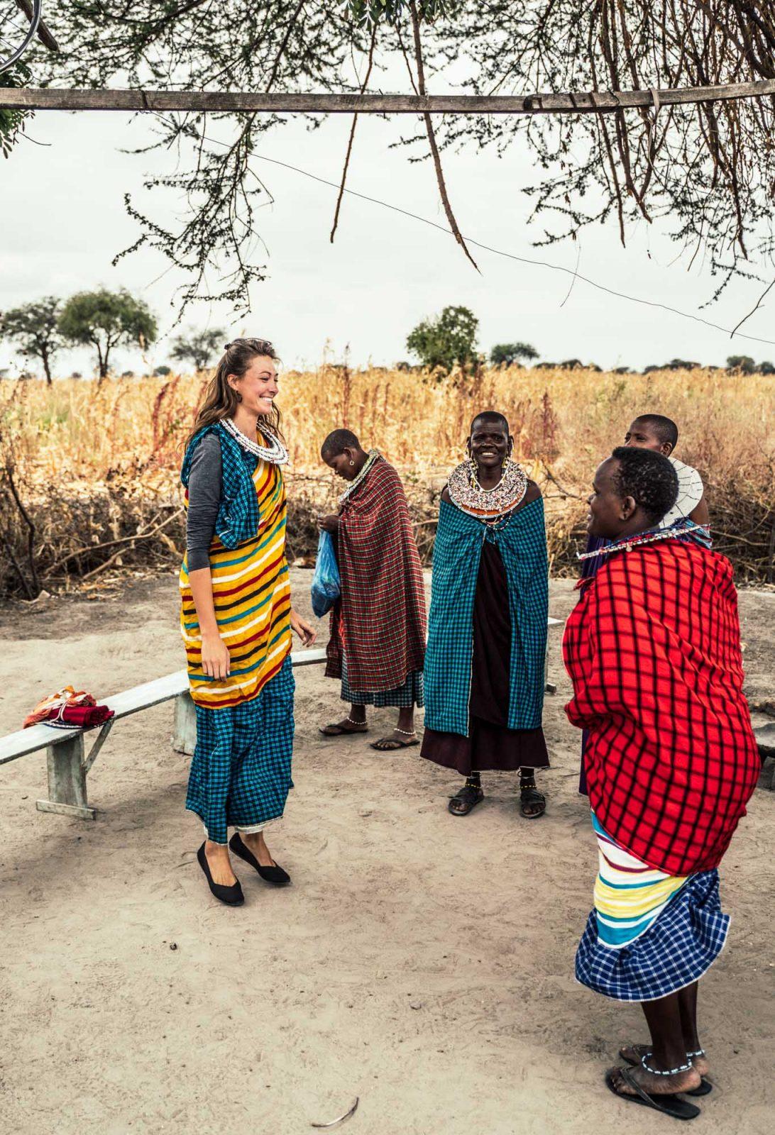 Maasai dancing, Serengeti