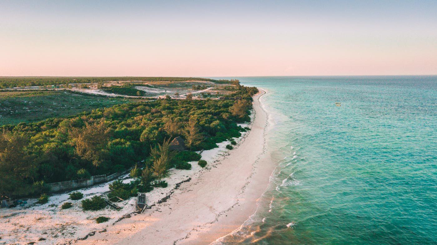 Beautiful coastline on Zanzibar Island