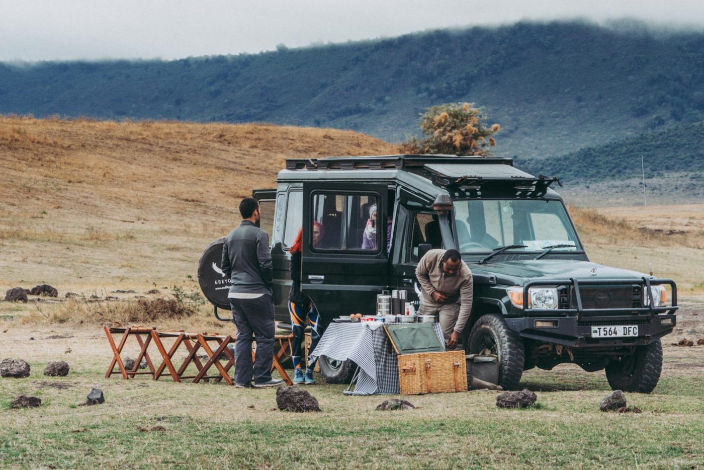 Picnic lunch in Ngorongoro National Park on a safari with &beyond