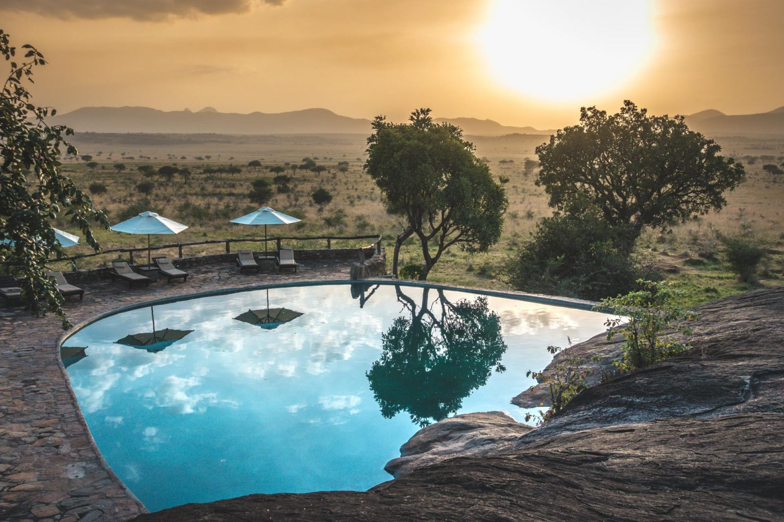Pool at the Apoka Safari Lodge