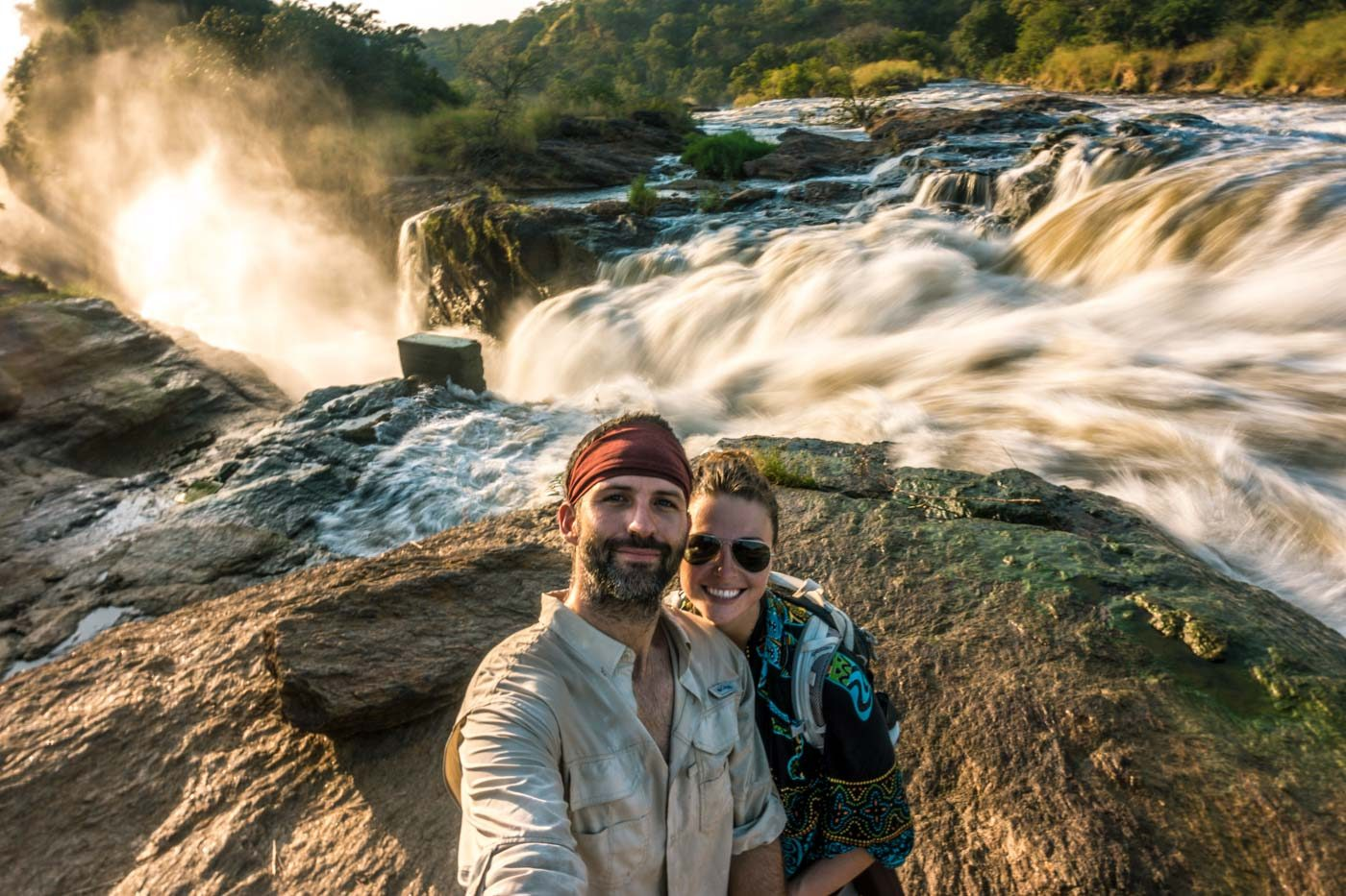 At Murchison Falls in Uganda