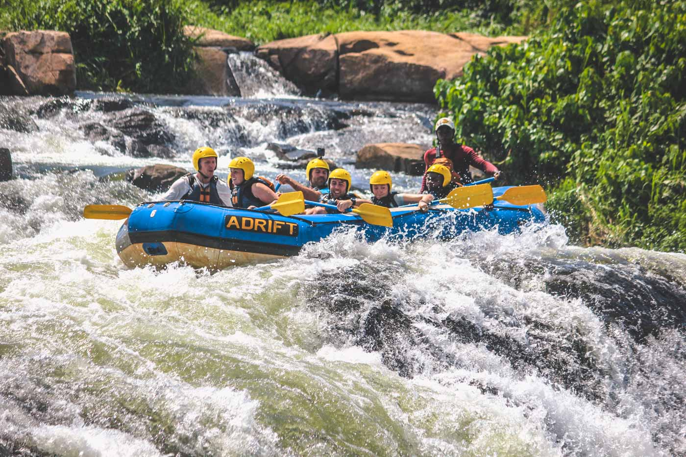 Whitewater rafting on the Nile. Photo by Adrift.