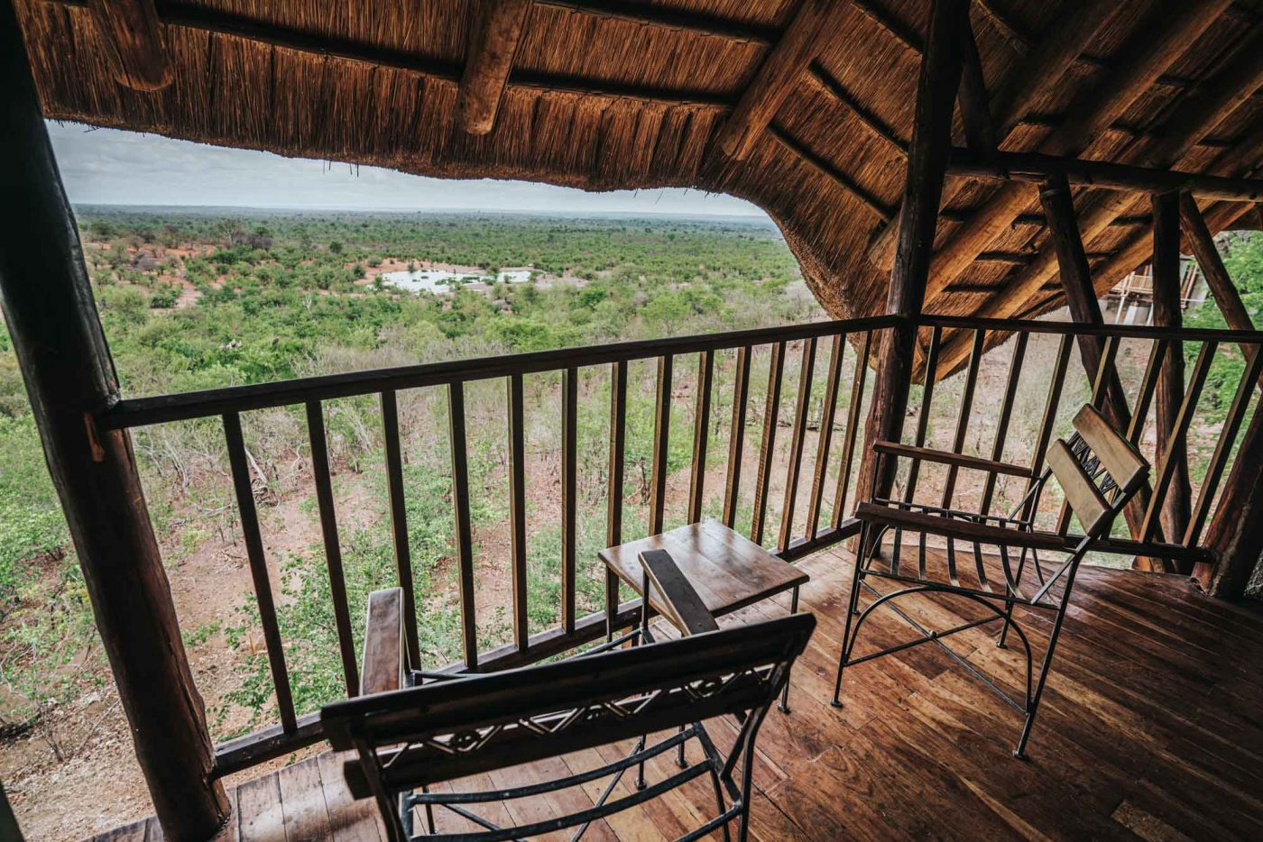 View from our room at Victoria Falls Safari Lodge, Zimbabwe