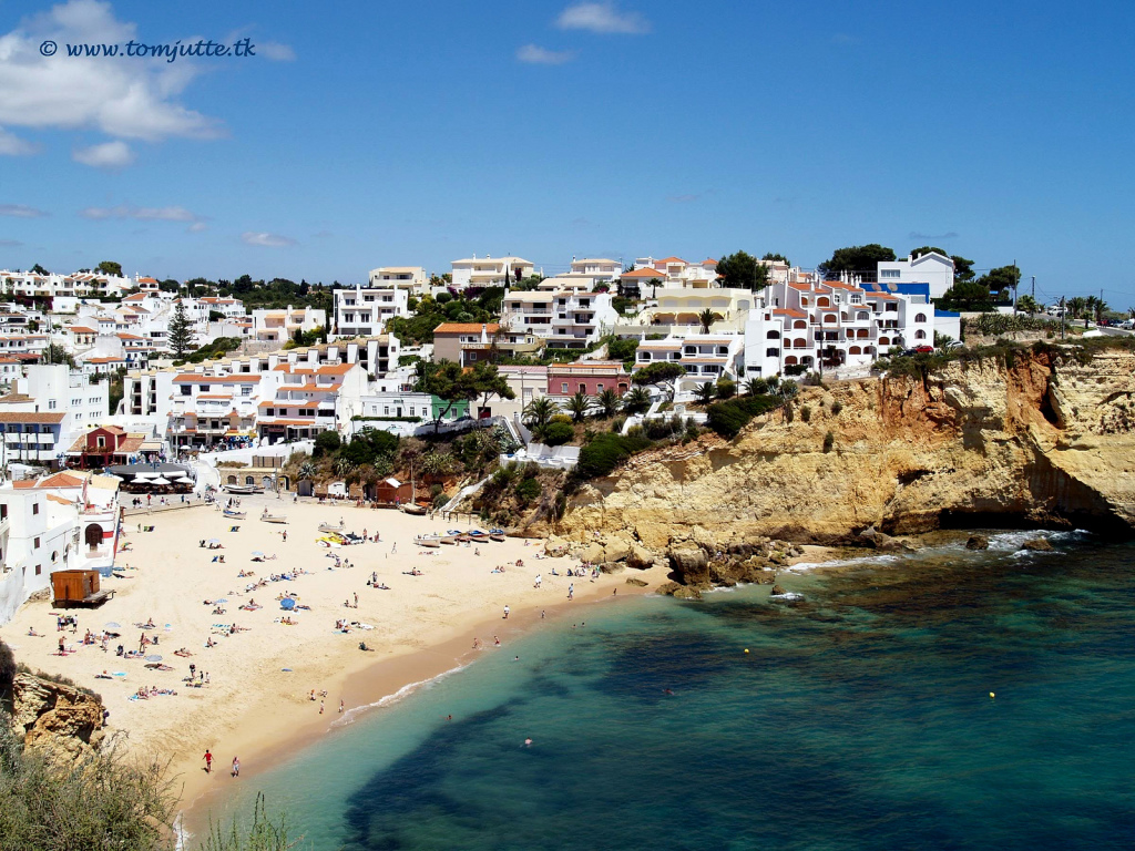 Carvoeiro, a coastal village in the Central Algarve, Portugal.
