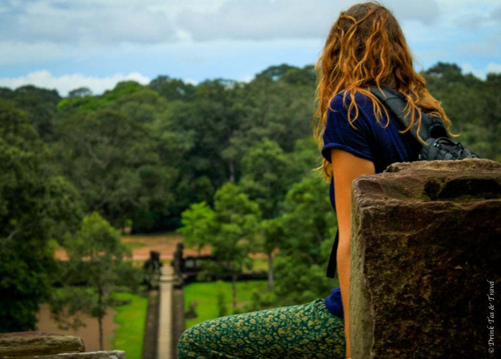 Lush surroundings of Angkor Wat in the rainy season