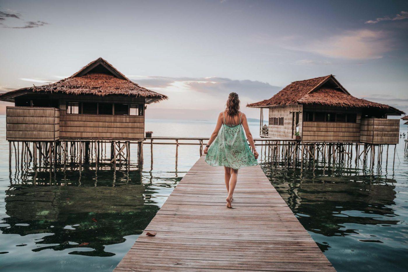 Bungalows at the Papua Paradise Eco Resort, Raja Ampat, Indonesia