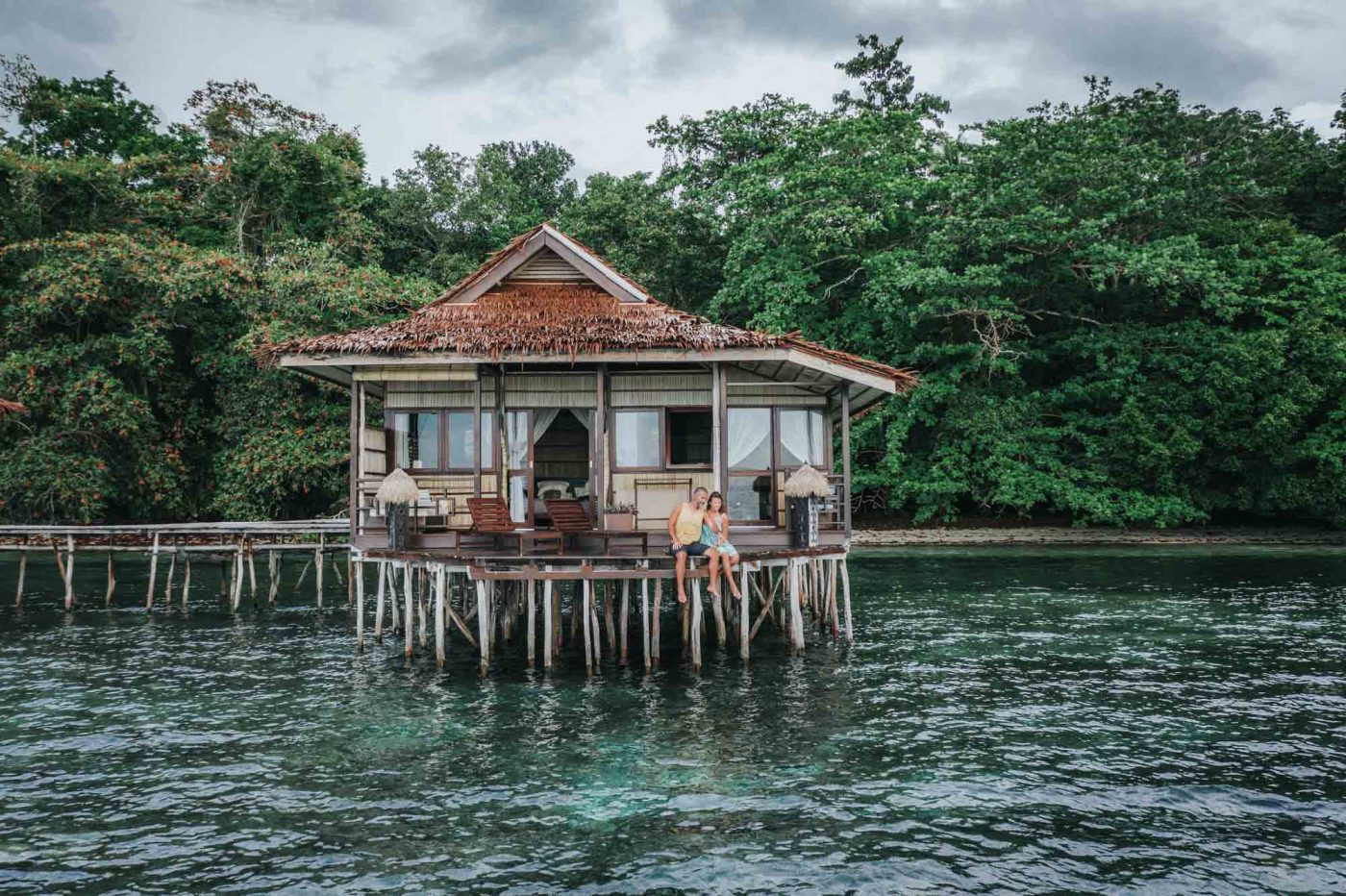 Our Deluxe Bungalow at the Papua Paradise Eco Resort, Raja Ampat, Indonesia