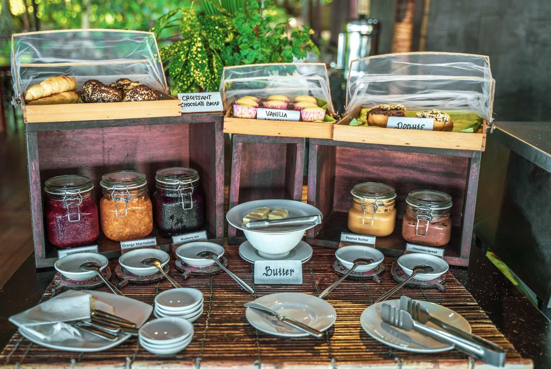 Breakfast buffet at Papua Paradise Eco Resort