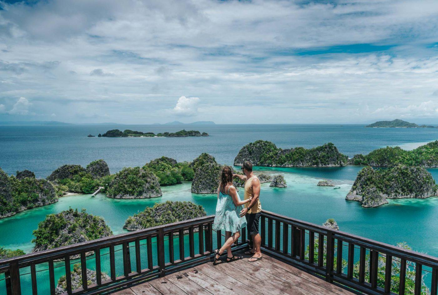 Overlooking Fam Islands in Raja Ampat, Indonesia