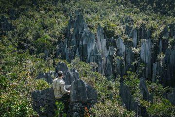 Exploring Mulu Caves at Gunung Mulu National Park in Sarawak, Malaysia