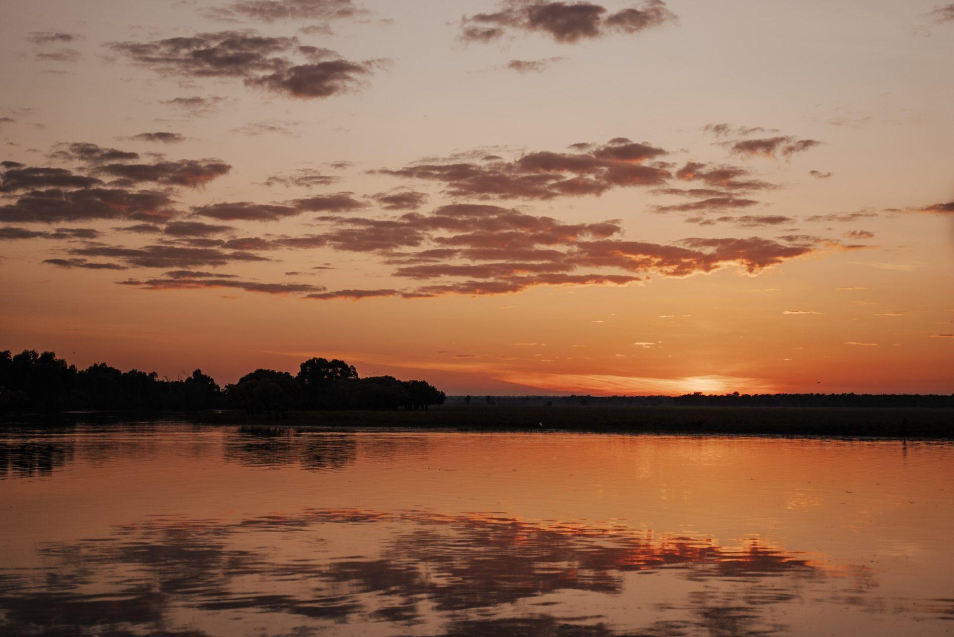 Sunrise on a Yellow Water Cruise in Kakadu National Park