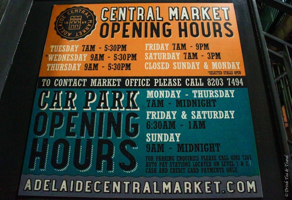 Adelaide Central Market, Opening Hours