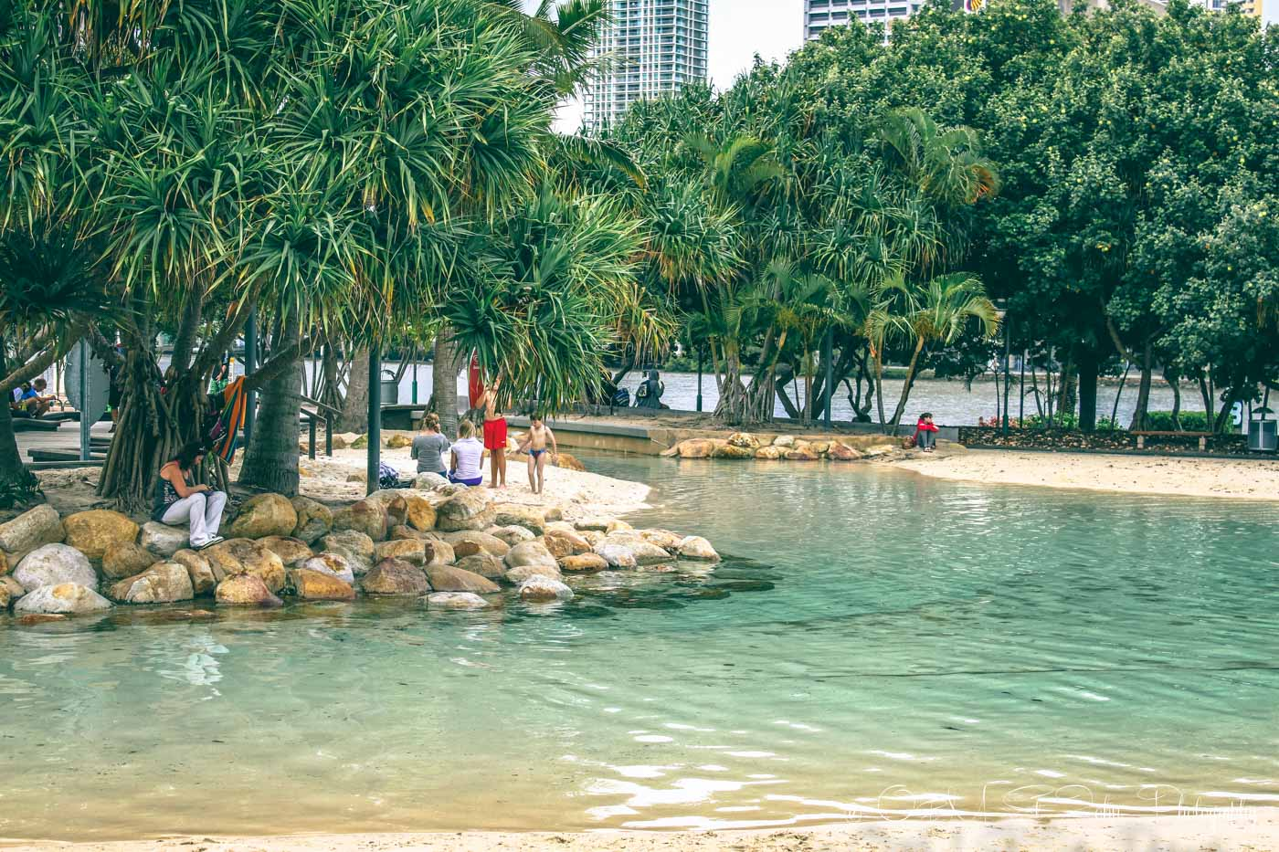 What to do in Brisbane city: Brisbane's city beach. Australia