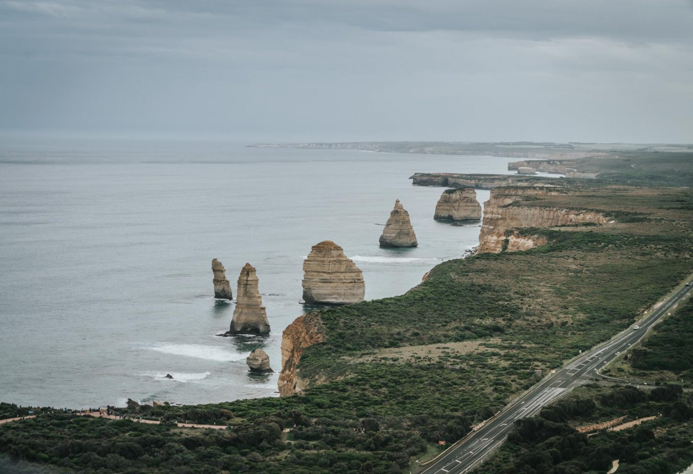 Admiring the Twelve Apostles from above!