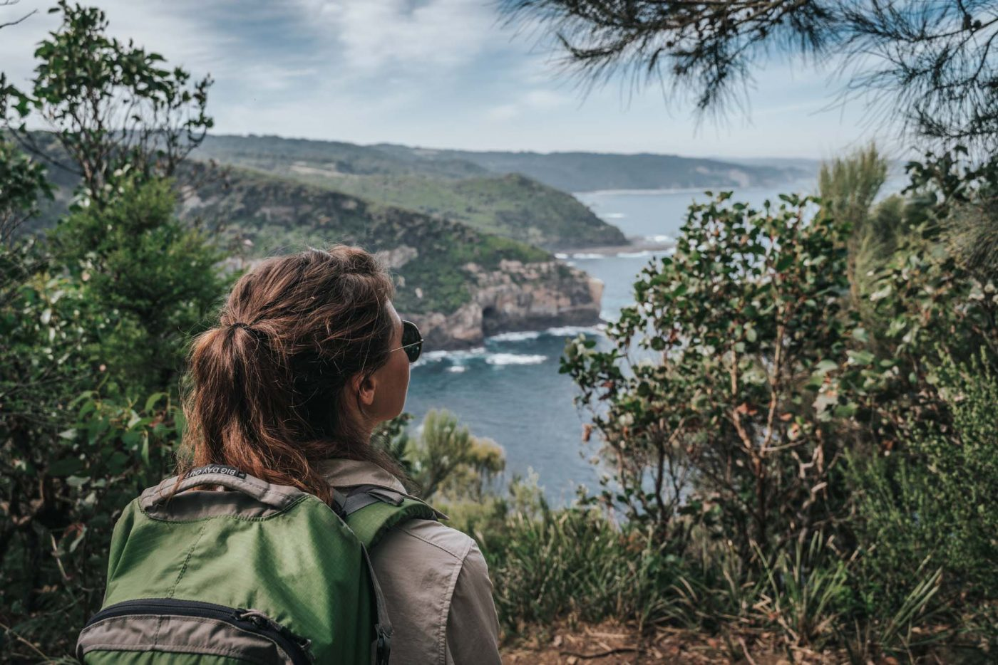 Admiring the views on our lunch stop on Day 2 of the Twelve Apostles Lodge Walk