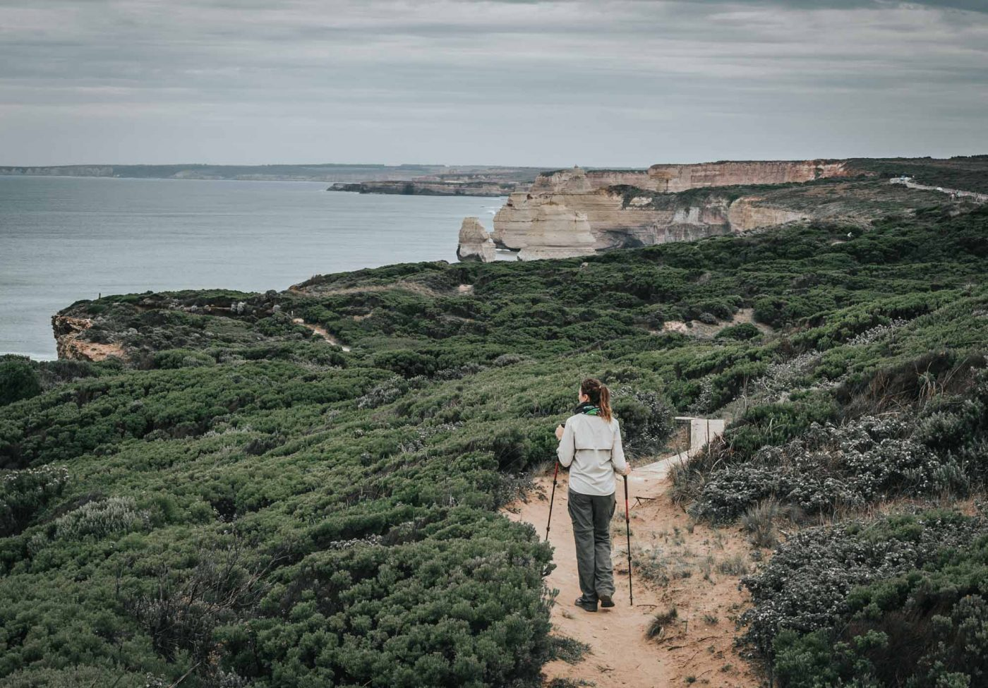 First glance at the Twelve Apostles ahead. Twelve Apostles Lodge Walk